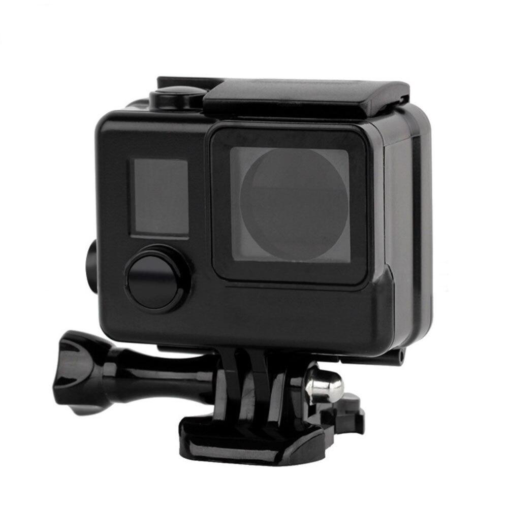 SCHIEßEN 45 mt Schnorcheln Tauchen Unterwassergehäuse für Gopro Hero 4 3 + 3 Kamera Schwarz Schutzhülle Go Pro Hero 4 zubehör