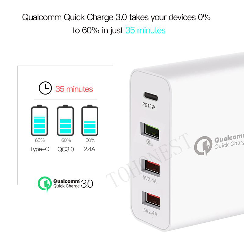 36W-Quick-Charge-3-0-Type-C-USB-Charger-Adapter-For-iPhone-Xiaomi-Samsung-Fast-Charger (4) - 副本