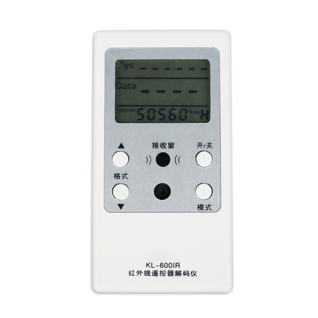 1pcs TV IR Remote Control Decoder Tester Infrared Control Testing Decoder Controller KL 550IR Chinese