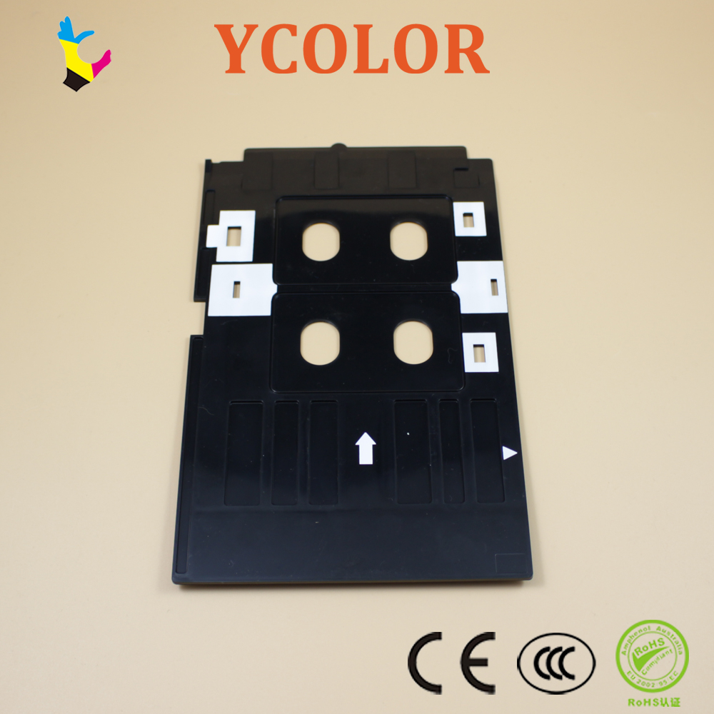 Fast Shipping Office Electronics Printer Supplies Pvc Id Card Printing Tray For Epson R260 R265 R270 R280 R290 R380 R390 Rx680 T50 T60 A50 P50 L800 L801 R330