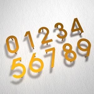 Image 3 - Iron art Modern Plaque Number House Hotel Door Address Digits Metal Plate Sign 0 9