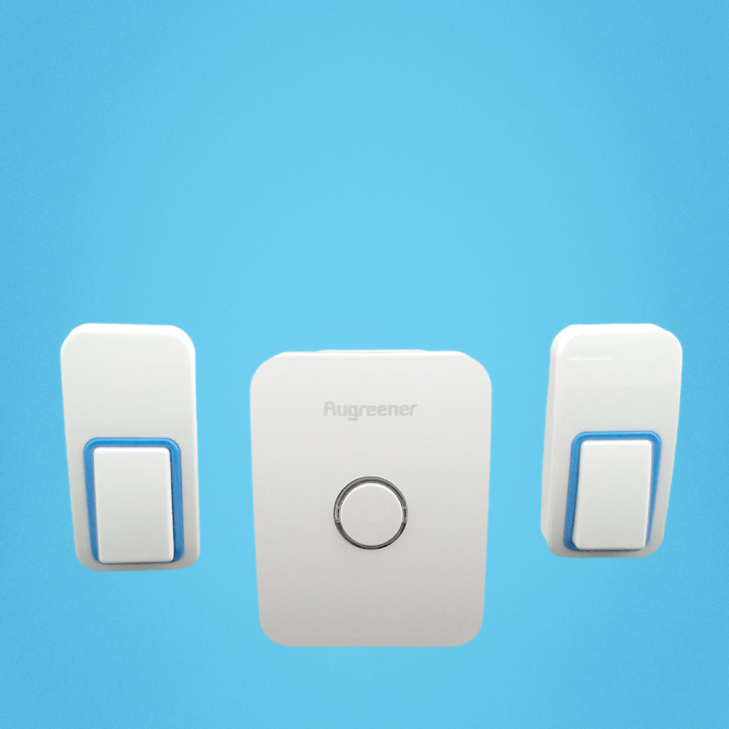 240V no battery waterproof wireless doorbell 1 receiver 2 push button 40 60degree 25 rings easy