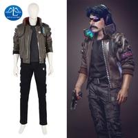 New Arrival Cyberpunk 2077 Costume Men Game Character Cosplay Costume For Halloween Game Full Set Custom Made