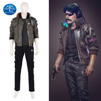 New Arrival Cyberpunk 2077 Costume Men Game Character Cosplay Costume For Halloween Game Full Set Custom Made