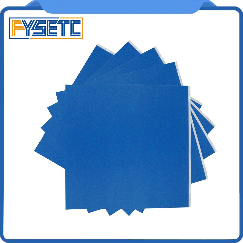 5pcs 3D Printer Heating Bed Blue High Temperature Tape 300*300 Mm With Rubber Adhesive Material Paper