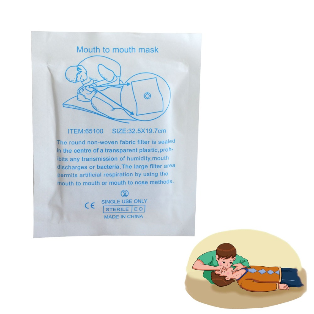 1000 pcs/pack CPR Face Shield Resuscitator mouth to mouth mask new