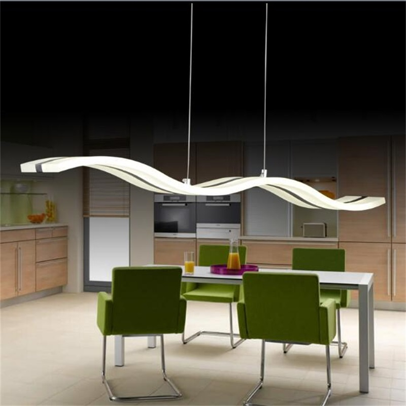 LED Pendant Lights Lamps Living Room Lights Modern Simple Newest Wave Design 38W Excellent Acrylic Indoor Home Lighting