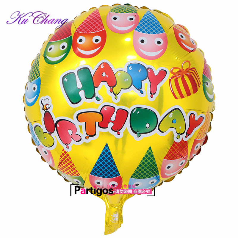 Groothandel 100pcs Globos Gemengde partij Gelukkige Verjaardag Ballon voor kinderen verjaardag decoraties feestartikelen 18inch Helium Ballon-in Ballonnen & Accessoires van Huis & Tuin op  Groep 3