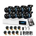 H. view 8ch sistema de câmera de segurança cctv sistema de 8x1080 p câmera de cctv sistema de vigilância kit camaras seguridad casa 1 tb hdd