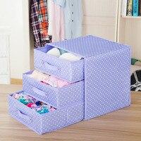 Underwear Storage Box Cotton and Linen Drawer Double Cloth Bra Socks Home Finishing Box Organizer Storage Boxes