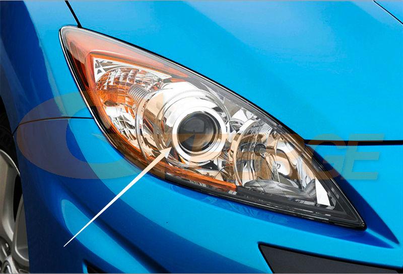US $18 64 14% OFF For Mazda 3 mazda3 BL 2009 2010 2011 2012 2013 Sedan  hatchback headlight Excellent Ultra bright illumination CCFL Angel Eyes  kit-in