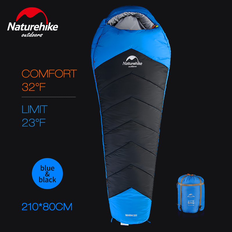 Naturehike Ultralight Cotton Outdoor Camping Sleeping Bags Winter Thermal Adult Mummy Waterproof Sleeping Bags naturehike mummy sleeping bag ultralight camping outdoor 3 season cotton winter adult sleeping bags for tourists 1750g 210 80cm