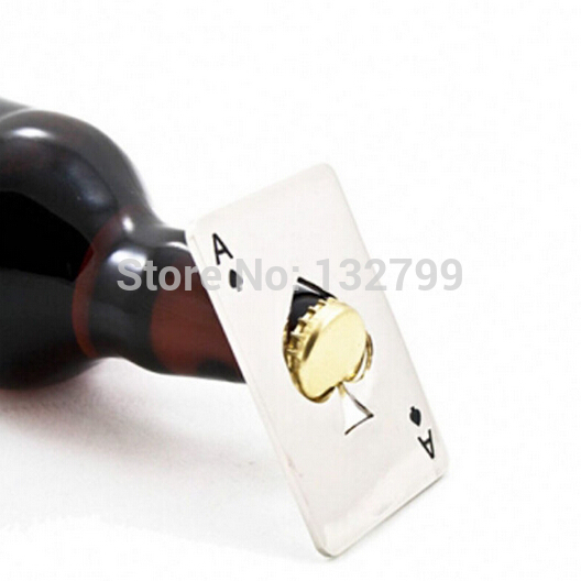 Poker Playing Card Bottle Openers Ace of Spades Soda Bottle Cap Opener Kitchen Bar Tool Novelty Gifts NEW