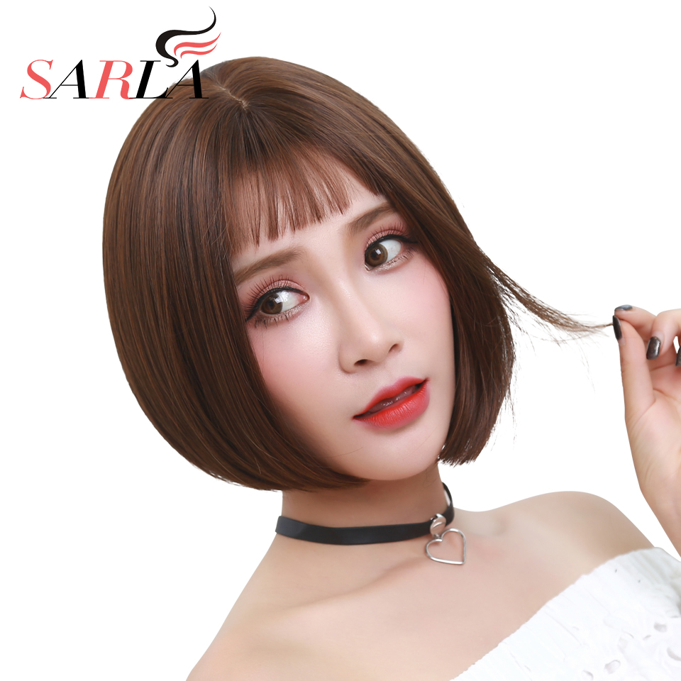 Short Bob Hair Wigs For Women Gril Lady Cute Pink Purple Black Brown Synthetic Same Style With Matilda Leon Movie Cosplay