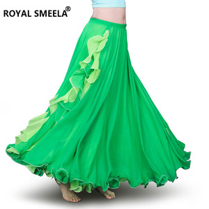 Image 5 - Hot Sale Women Chiffon High quality New bellydancing skirts belly dance costumes Belly dance dress Lotus leaf performance skirt