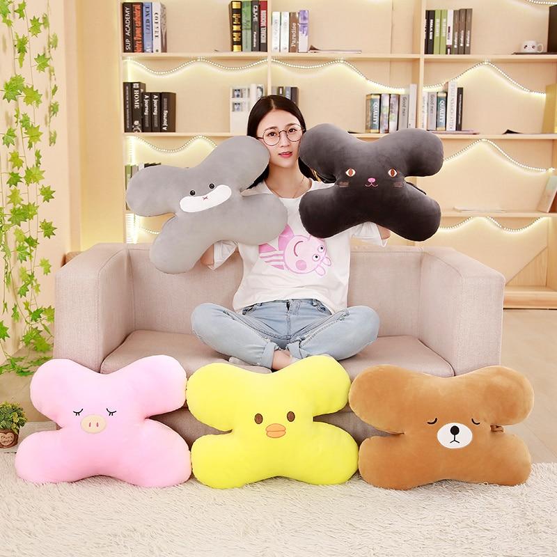 1pc 45*40cm Multifunctional Hamster Pig Dog Cat Bear Duck Pillow Plush Toy Soft Stuffed Car Cushion Kawaii Kid Gift High Quality