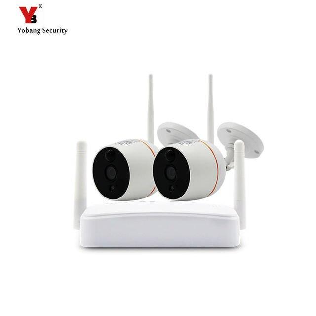 Wireless mini Sistema di Telecamere di Sicurezza HD 1080 P Wifi Mini NVR Kit di Video Sorveglianza Esterna Casa Senza Fili del IP Della Macchina Fotografica Set