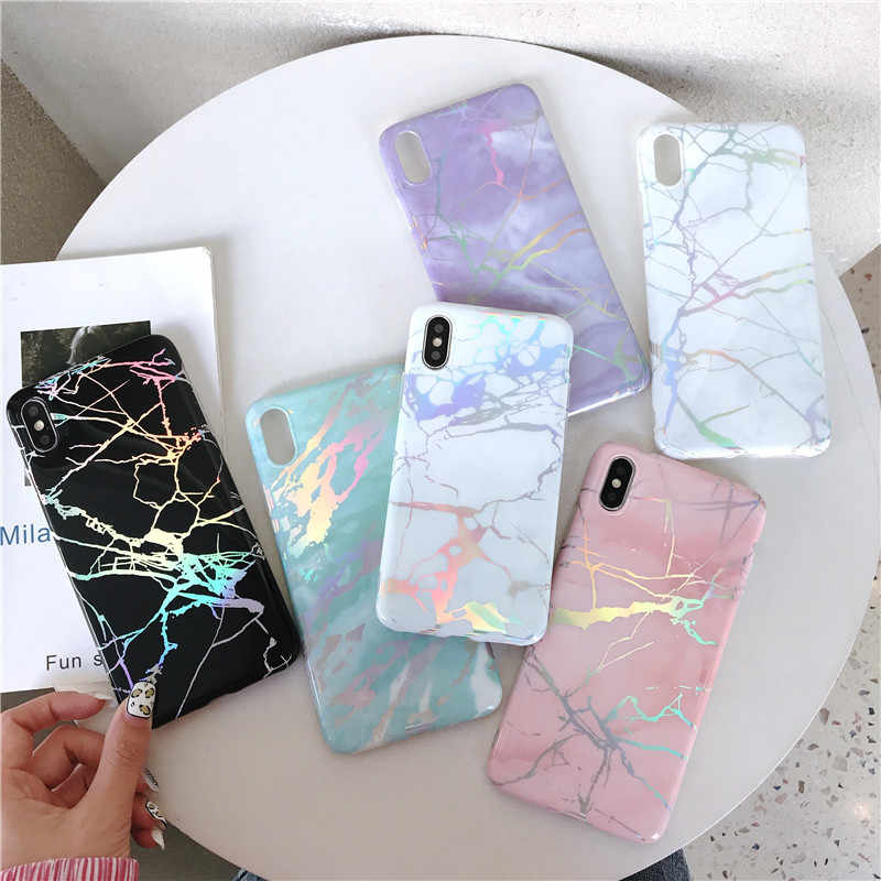 Luxury Marble design Shine shell For huawei p20 lite case Mate20 PRO Nova 3i Phone Case for silicon huawei p smart