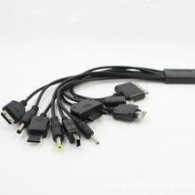 Elistooop كابل USB 10 في 1 لجهاز iPod ، Motorola ، Nokia ، Samsung ، LG ، Sony ، ericson K750 ، كابل بيانات الأجهزة الإلكترونية الاستهلاكية ، قطعة واحدة