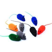 1PCS Rabbit Fur False Mouse Pet Cat Toys Mini Funny Playing Toys For Cats Kitten 13X6X3CM