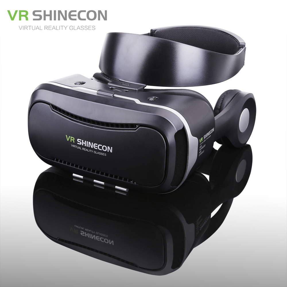 Shinecon VR 4.0 Pro Virtual Reality Gear Goggles 3D Google Cardboard Gafas VR Box Headset For 4.7-6.0 inch Smartphone + Gamepad vr goggle foldable virtual reality 3d glasses cardboard