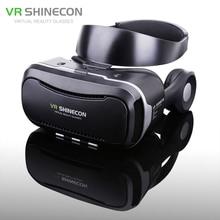 Shinecon VR 4.0 Pro виртуальной реальности очки 3D Google cardboard очки VR коробка гарнитура для 4.7-6.0 дюймов смартфон + геймпад