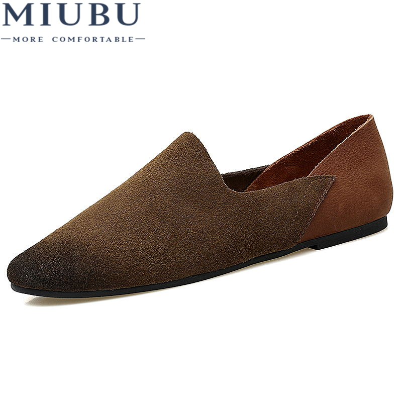 MIUBU Fashion Design Slip On Loafer Shoes Men Black Round Toe Brush Leisure Shoes Man Suede Leather Shoes Casual men shoes in Men 39 s Casual Shoes from Shoes