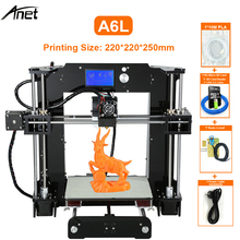 Factory Selling Anet A6L 3D Printer Self Leveling High Precision Offline Printing 2004 LCD Desk 3D DIY Kit Printer 200*200*240mm 3d printer high precision sapphire s corexy automatic leveling aluminium profile frame big area diy kit core xy structure