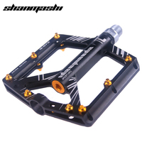shanmashi bicycle pedals MTB mountain bike pedal aluminium 4 bearings road footrest big flat treat ultralight 306g cycling 9/16