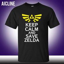 Nintendo The Legend of Zelda T-shirt Link keep calm and save zelda T Shirt Short Sleeve Tees Men Women Tops