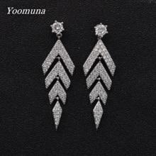 New Luxurious Long Drop butterfly Zircon Earrings for Women Silver Color Korean Bridal Dangle Earring 2019 Fashion Jewelry