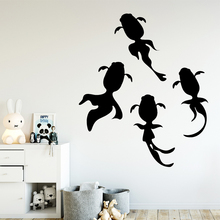 NEW Goldfish Wall Art Decal Decoration Fashion Sticker For Living Room Bedroom Vinyl