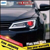 Car Style LED Headlights For VW Jetta 2012 2017 For Jetta Head Lamp LED DRL Lens