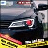 2PCS Car Style LED Headlights For VW Jetta 2012 2017 For Jetta Head Lamp LED DRL