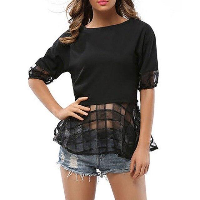 Sexy plaid half shirts