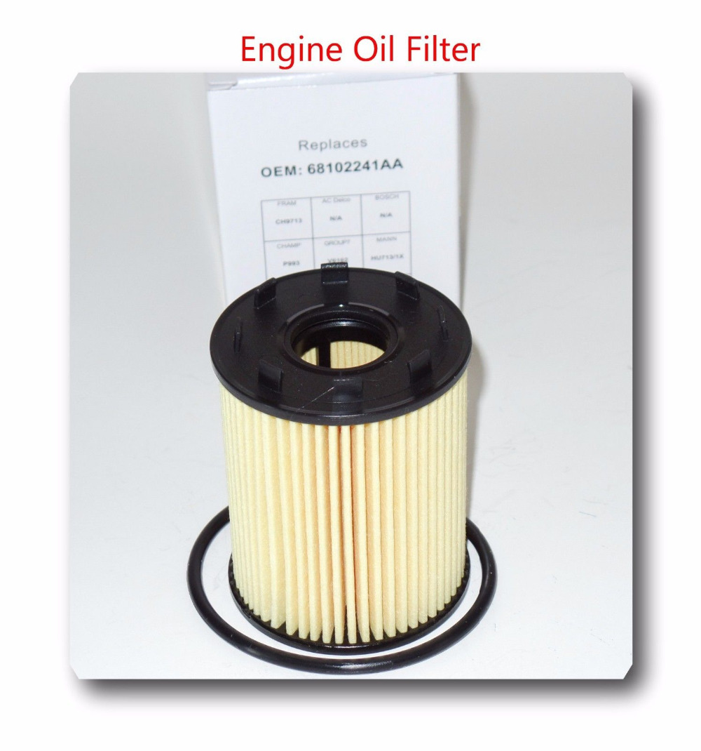 medium resolution of car engine oil filter oe no 68102241aa fits for fiat 500 dodge dart jeep renegade in oil filters from automobiles motorcycles on aliexpress com