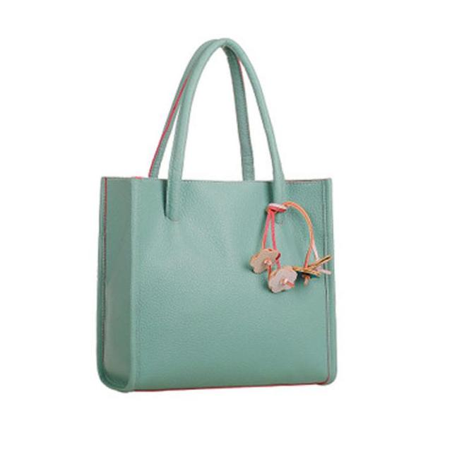 5c12c60e665 2017 Fashion Girls Handbags Solid Leisure leather shoulder bag candy color  flowers totes bolsa feminina Concise bolsas bag 9.12
