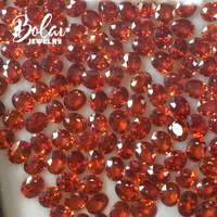 bolaijewelry,Natural orange red sapphire oval 4*5mm 2 piece in one lot,1.2ct for diy gold jewelry custom made fine jewelry