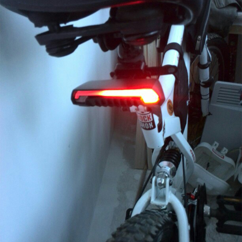 Meilan X5 Smart Turning Control Bicycle Lights Bike Lamp Laser USB Rechargeable Wireless Remote LED Rear Cycling Bycicle Lights ...