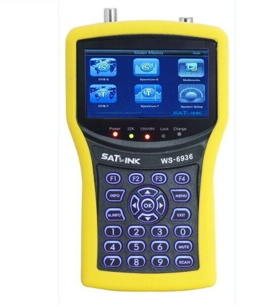 Original Satlink WS-6936 DVB-S Digital Satellite (DVB-S) & Terrestrial Signal Finder (DVB-T) + Real Spectrum Analyzer satlink ws 6979se dvb s2 dvb t2 mpeg4 hd combo spectrum satellite meter finder satlink ws6979se meter pk ws 6979