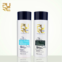 PURC Daily Shampoo 100ml And Daily Conditioner 100ml Set Professional Use For Keratin Hair Treatment Unisex Daily Hair Care Set grape mini 250ml daily shampoo and 250ml daily conditioner hair care and treatment after keratin straighten hair free shipping