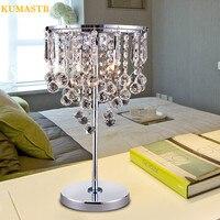 Новый k9 кристалл Настольные лампы для Спальня ночники Роскошные Настольные лампы для Гостиная Abajur Современный Chrome свет стол