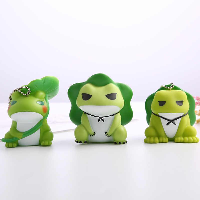Lindo llavero de rana verde de dibujos animados hombres y mujeres colgante en forma de animal de silicona llavero mochila accesorios Regalo De vacaciones 2019