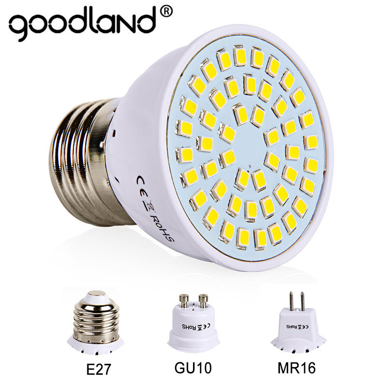E27 LED Bulb GU10 LED Lamp 220V SMD 2835 MR16 Spotlight 48 60 80LEDs Warm White Cold White Lights for Home Decoration Ampoule jrled e27 12w 1000lm 3300k 60 smd 2835 led warm white horizontal lamp white silver ac 85 265v