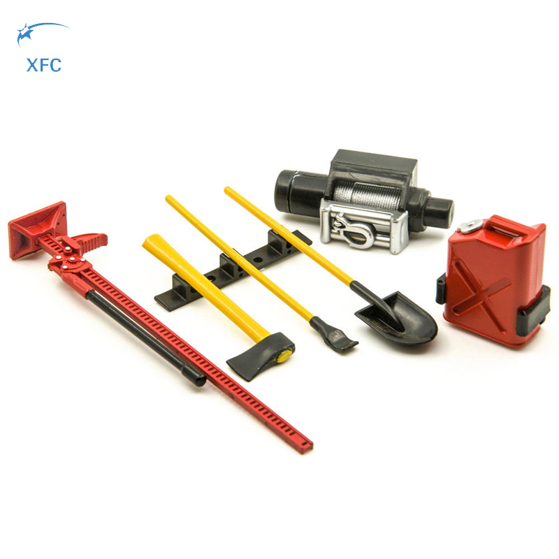 XFC RC 1/10 Scale Decorative Tool Kit Accessory Set Crawler Part for SCX10 RC4WD AX10 D110 D90 Wraith Red 2 unit 1 10 scale shackles with bracket red for rc crawler truck accessory free shipping