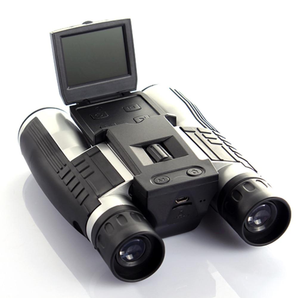 12x32 HD Binocular Telescope digital camera 5 MP digital camera 2.0'' TFT display full hd 1080p telescope camera Hot sjcam sj4000 1 5 tft 12 0 mp 2 3 cmos 1080p full hd outdoor sports digital video camera black