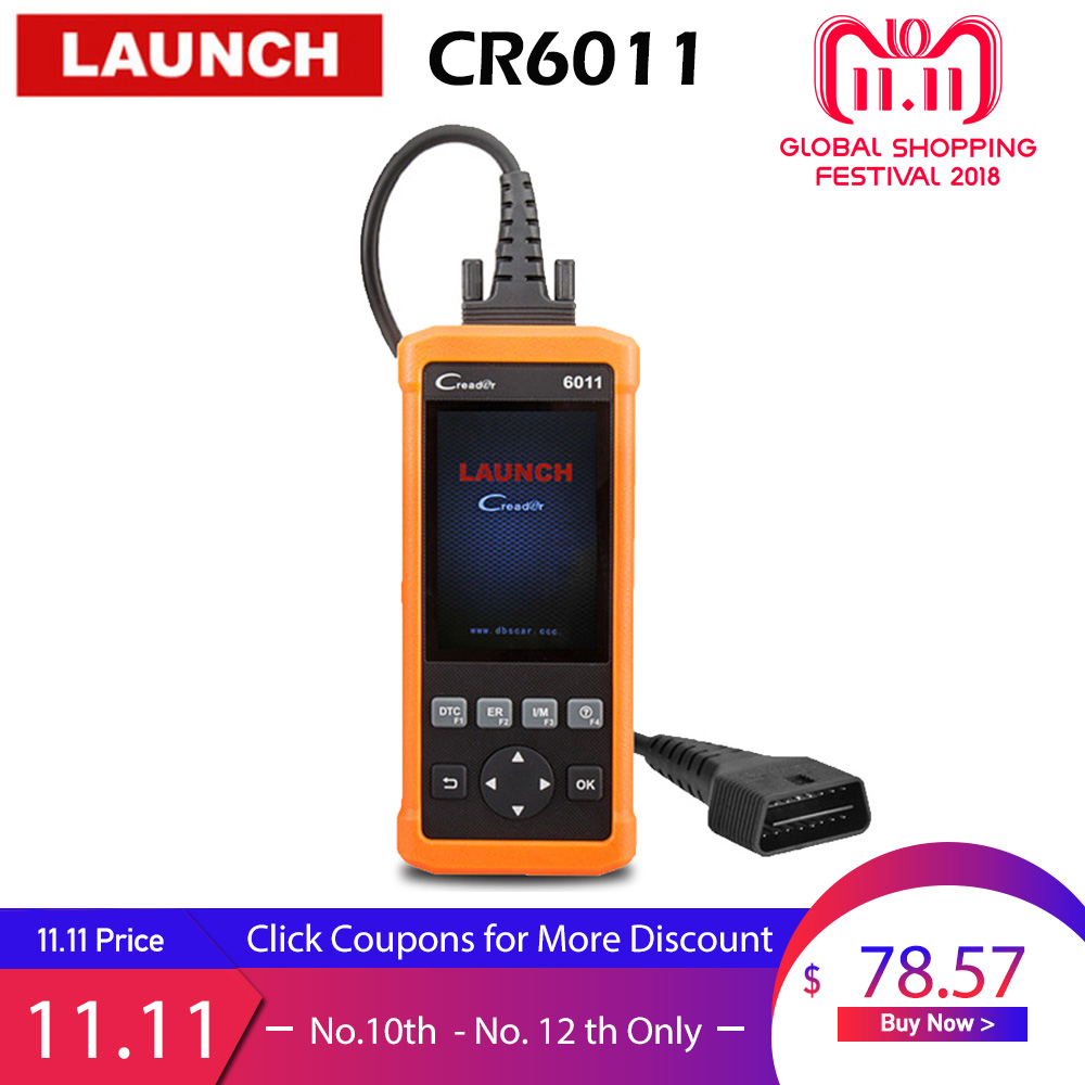 Launch Creader 6011 ABS SRS Scanner OBD2 Car Diagnostic Scan Tool Auto Airbag Scaner Automotive OBD 2 Code Reader Diagnostics b200 bmw airbag srs scan