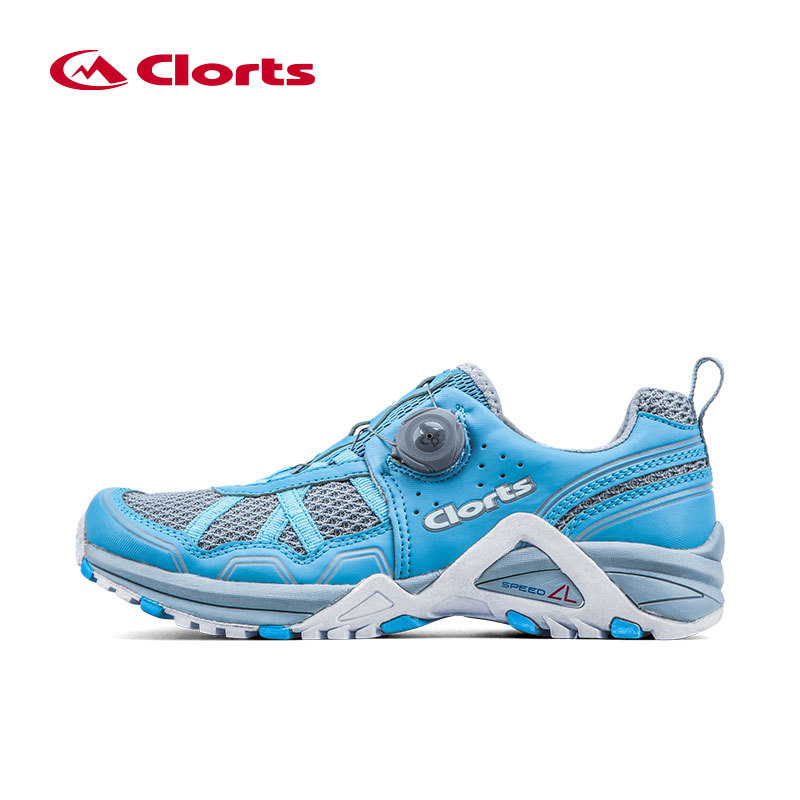 CLORTS Women Running Shoes Breathable Running Sneakers Lady Professional Cushion Running Shoes Automatic Lace Sneakers For Girls кардиометр running