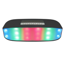 Portable outdoors bluetooth speaker Wireless Stereo Colorful LED Lights FM radio Kalonki Loudspeakers Soundbar for the computer