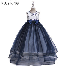 2019 New Girls Lace Dress Wedding for 5 To 14 Years Old Girl Party Dresses
